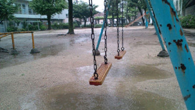 雨の公園20110612